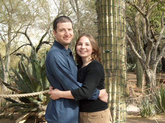 12.23.05 John and Shan at Cactus Garden
