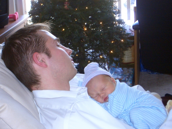 Josh and Sleeping Logan